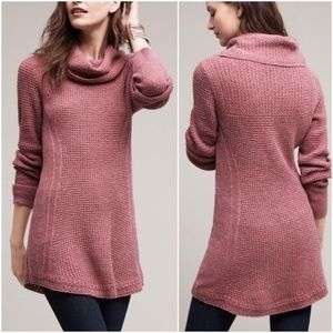 Angel of the North Cowl Neck Pink Sweater XS